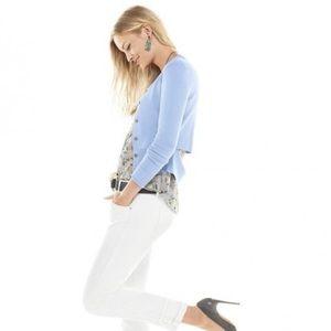 🦋Cabi #5140 Blue Cotton Cut Out Button Cardigan